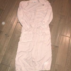 Light pink button down dress